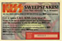 Sweepstake coupon